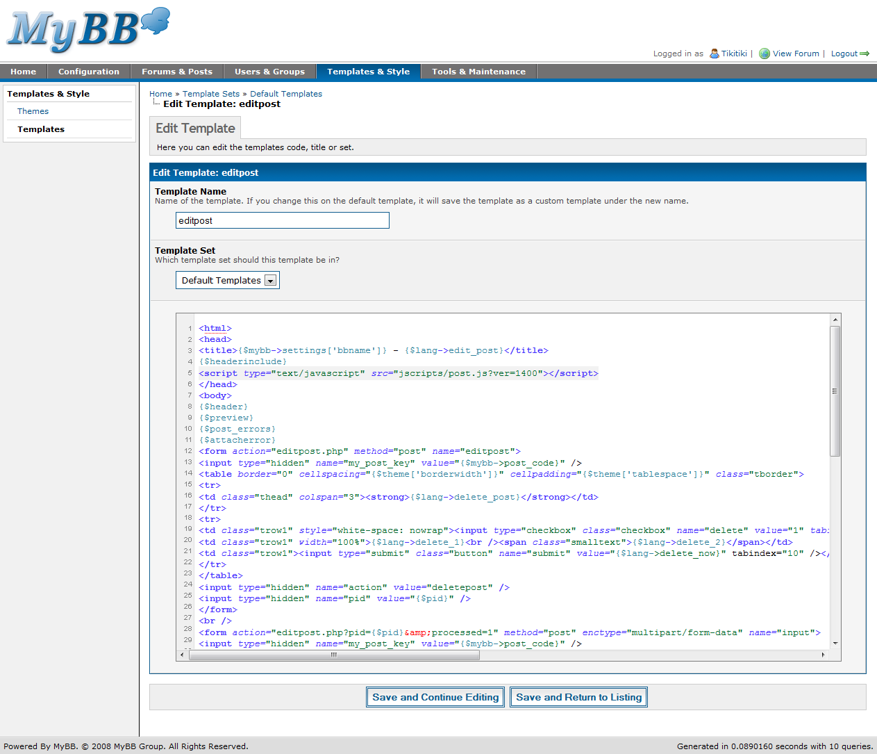 MyBB 1.4 Admin CP – The Complete Overview (Part 4) | MyBB Blog